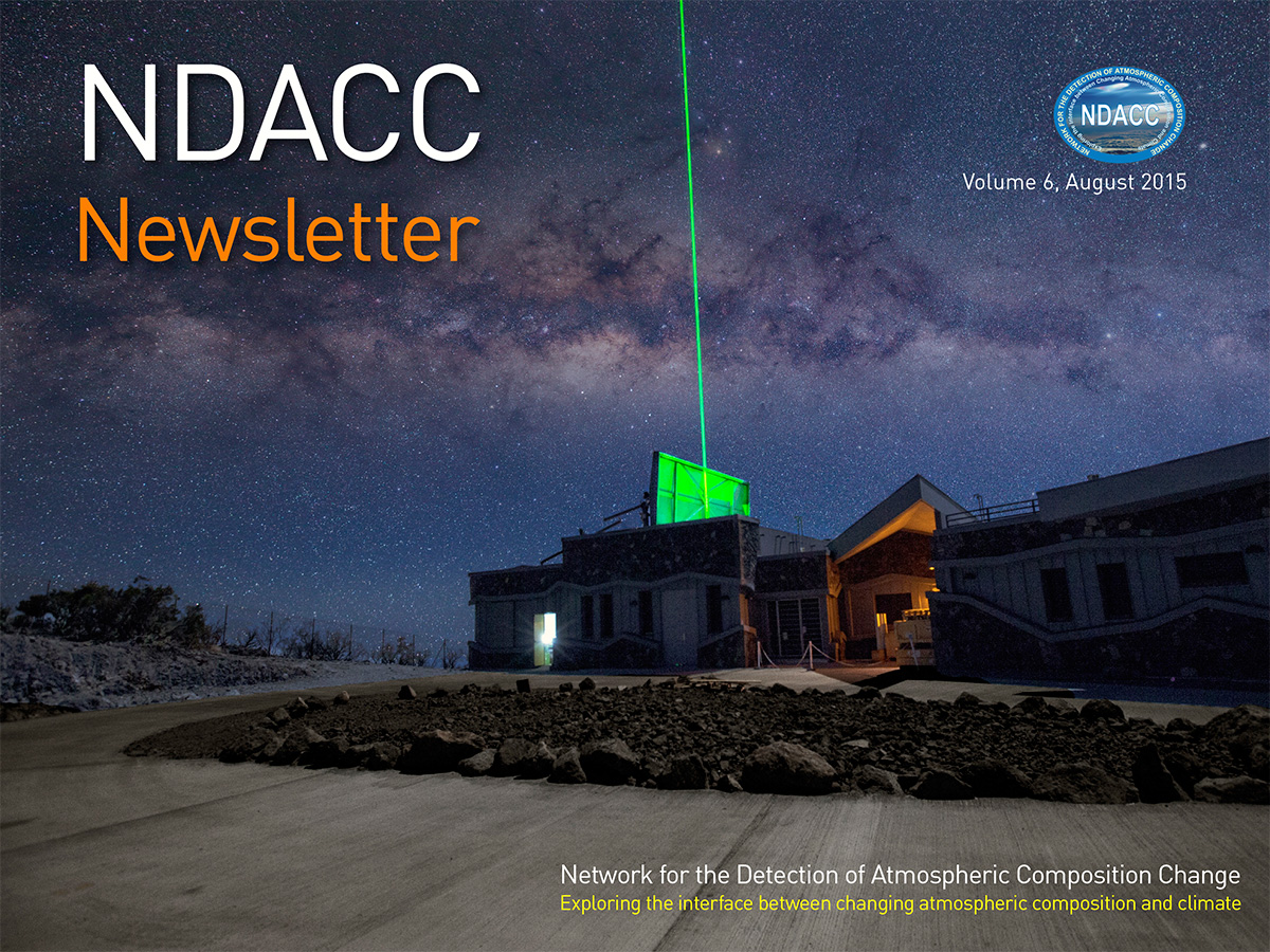 Latest NDACC Newsletter cover image